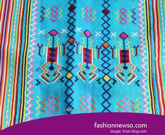 Multiple Type Fabric Songket Traditional Timor In Indonesia