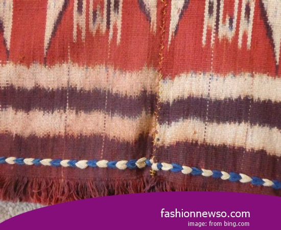 Sorts Type Woven Cloth Traditional Maumere In Indonesia